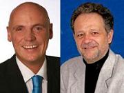 Die beiden Kandidaten Daniel (li.) u. Werner (re.)