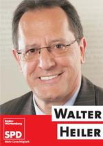 Plakat mit Walter Heiler Landtagswahl 2011